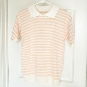 Vintage Short Sleeve Striped Sweater